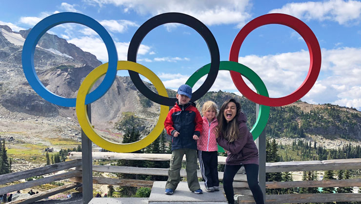 Visiting Whistler in Canada.