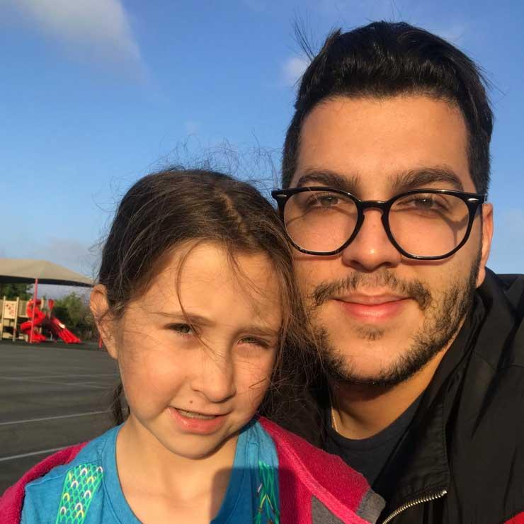 Danillo and his host kid.