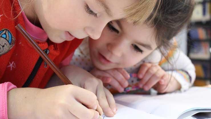 Your au pair can help make homework a little more fun.