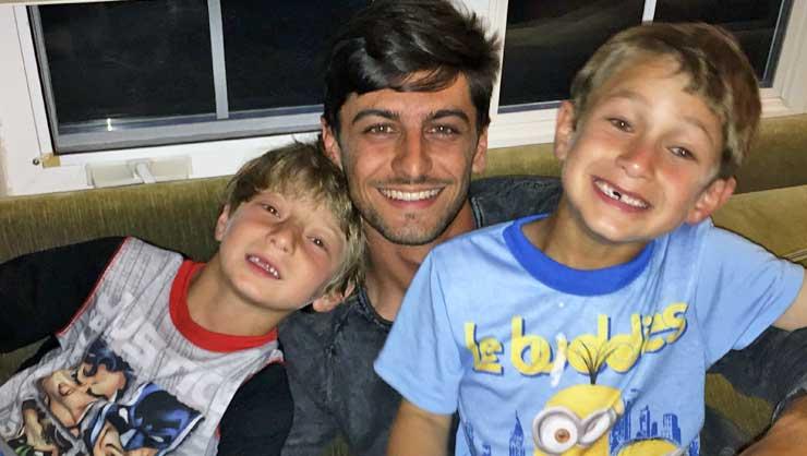 Au pair Taynan and his host boys.