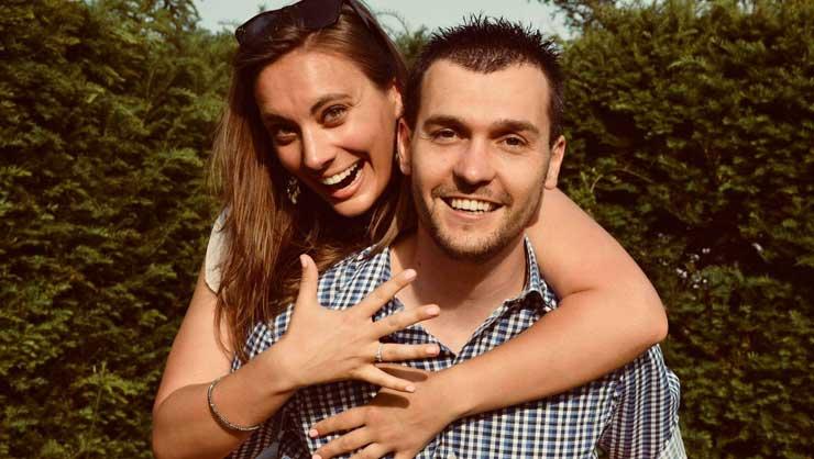 Elisabeth and her fiance.